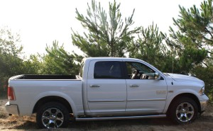 Photo du pick-up Dodge RAM blanc