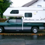 Cellule camping car sur un pick up