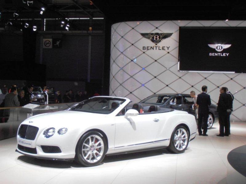 La Bentley Continental GT au Mondial de l'Auto