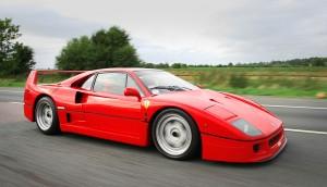 La supercar de la fin des années 80, la Ferrari F40