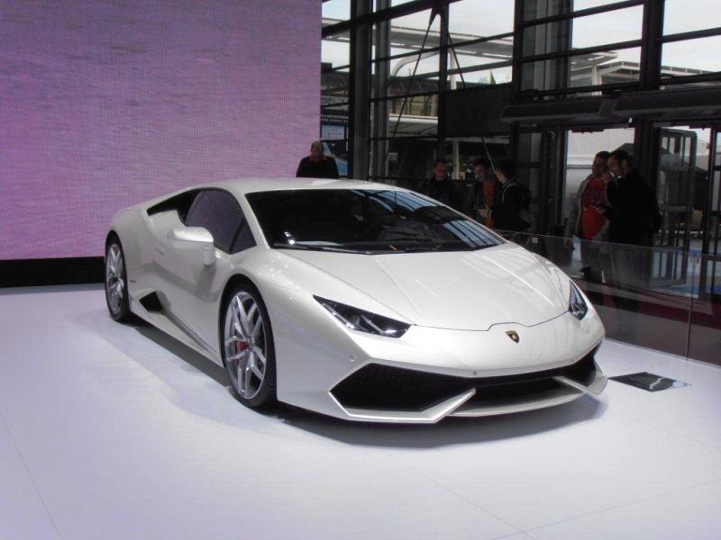 La Lamborghini Huracan au Mondial de l'Auto