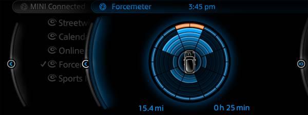 Mini Connected affiche en temps réel les données de votre conduite
