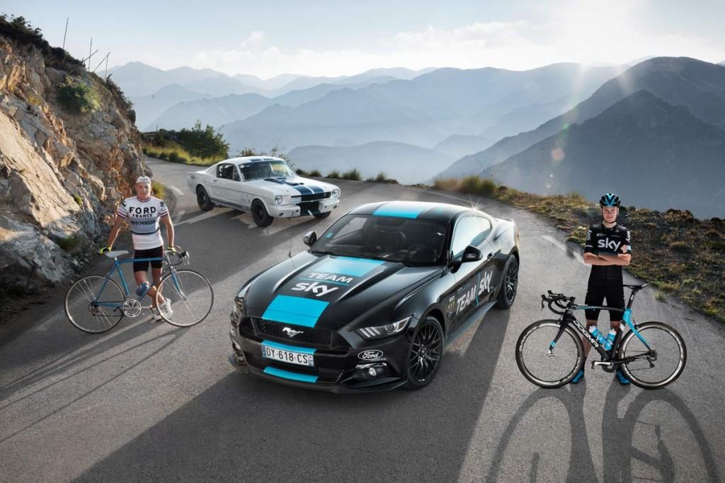 La Ford Mustang a rendez-vous avec l'Histoire sur le Tour de France 2016