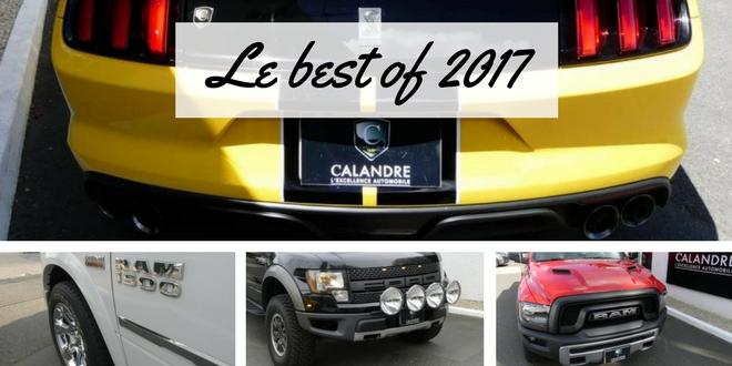 Rétrospective 2017 de spick up et voitures américaines
