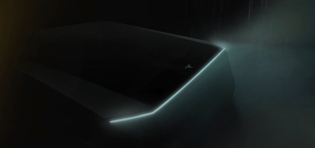 Photo teasing du pick up électrique Tesla